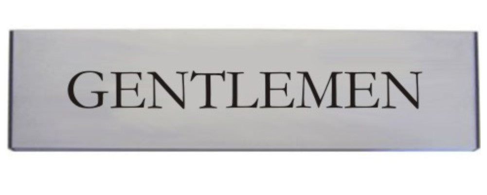 Engraved Aluminium Gentlemen Door Sign