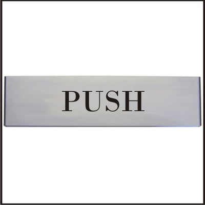 Engraved aluminium Push Door sign