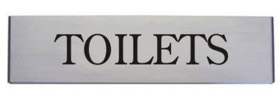 Engraved Aluminium Toilets Door Sign