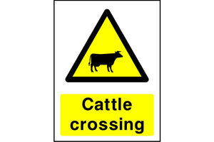 Cattle crossingsafety sign