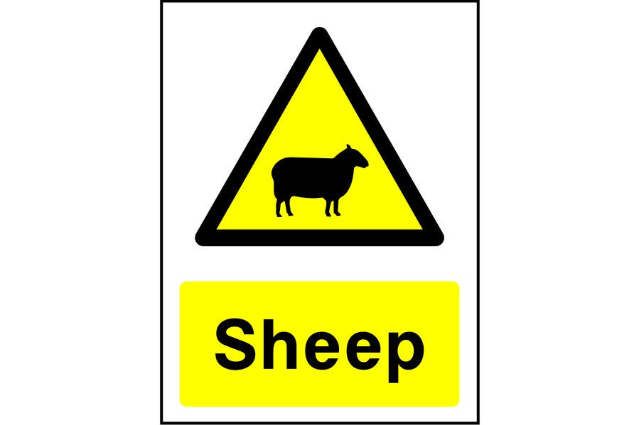 Sheep caution sign