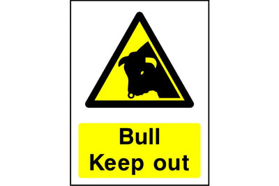 Bull Keep out warning sign