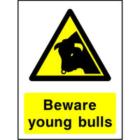 Beware young bulls sign