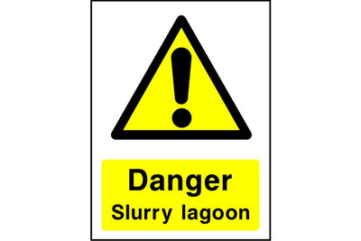 Danger Slurry lagoon sign