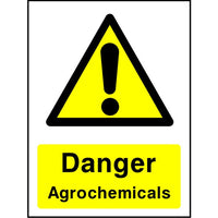 Danger Agrochemicals sign