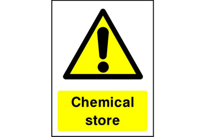 Chemical store warning sign