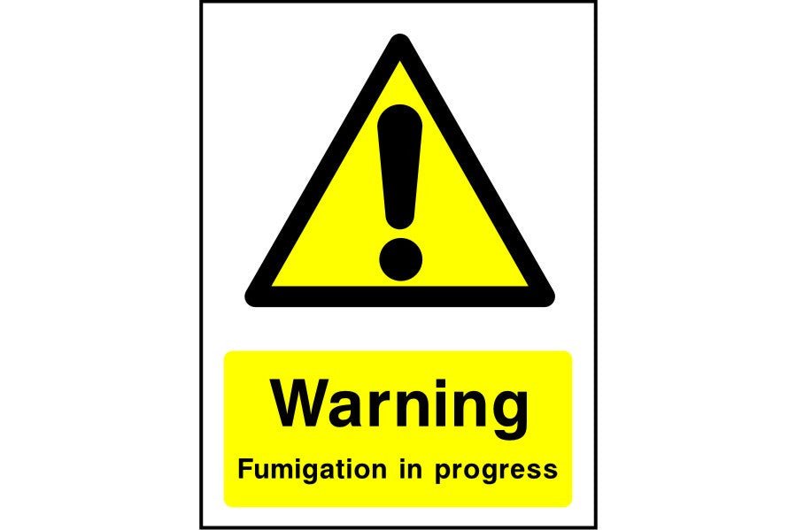 Warning Fumigation in progress sign