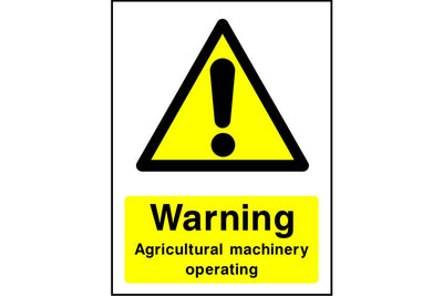 Warning Agriculture machinery operating sign