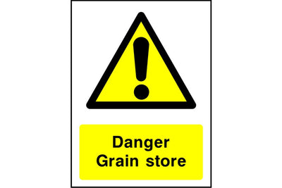 Danger Grain store sign