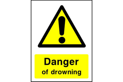 Danger of drowning sign