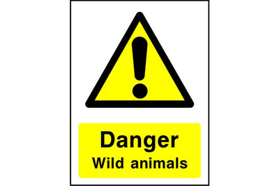 Danger Wild animals sign