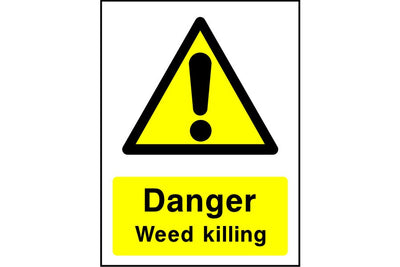 Danger Weed killing sign