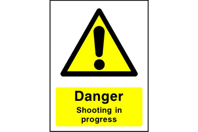Danger Shooting in progress sign
