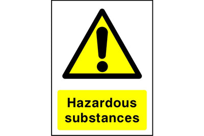 Hazardous substances sign
