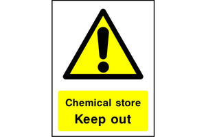 Chemical store Keep out sign