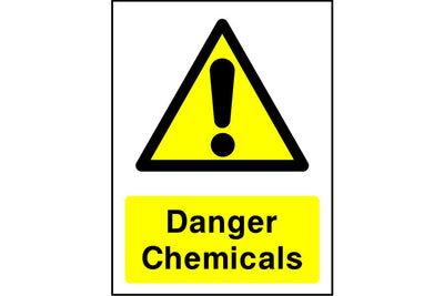 Danger Chemicals safety sign