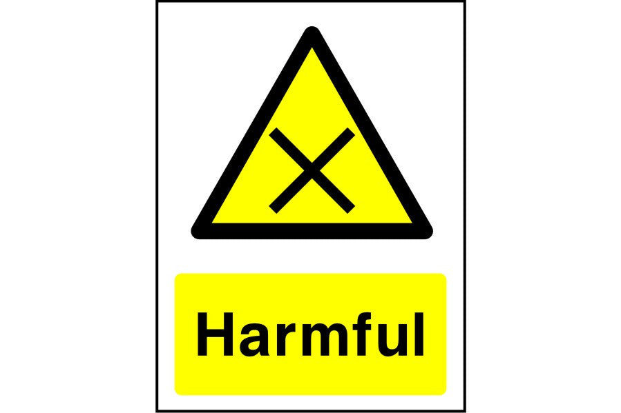 Harmful safety sign