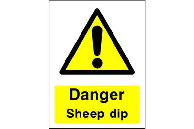 Danger Sheep dip sign