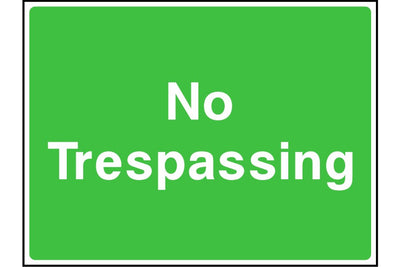 No trespassing sign