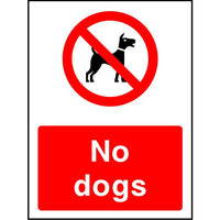 No Dogs park safety sign