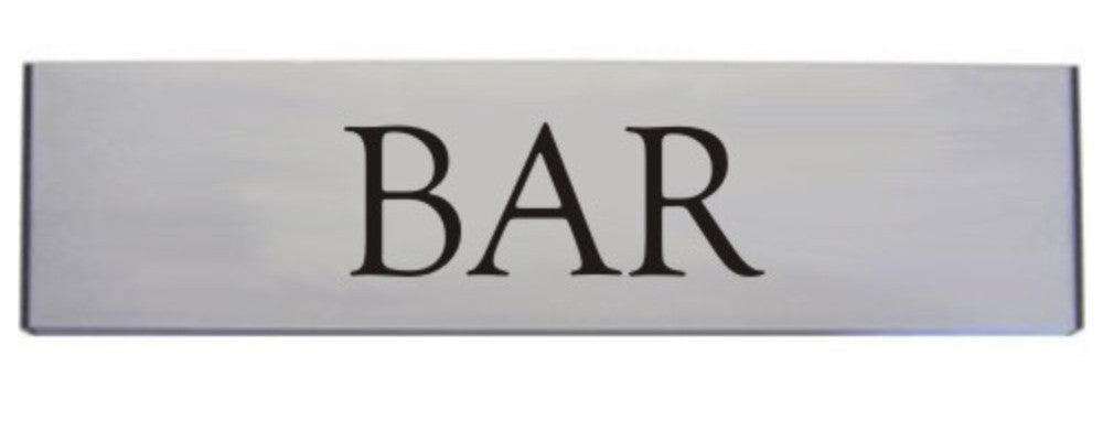 Engraved Aluminium Bar Sign