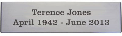 Engraved Aluminium Plaque 125mm x 50mm