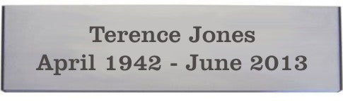 engraved aluminium bench plaque