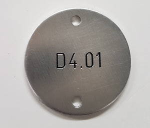 Engraved 33mm Aluminium Disc