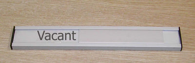 Aluminium Sliding Door sign Vacant Engaged