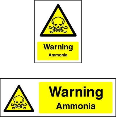 Warning Ammonia Sign