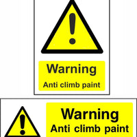 anti climb paint safety sign