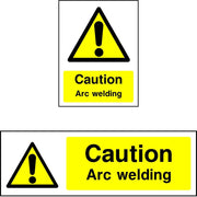 Caution Arc Welding safety sign