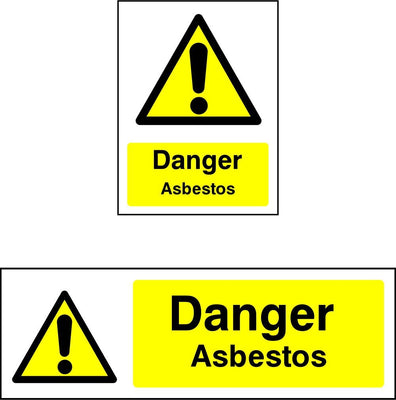 Danger Asbestos safety sign