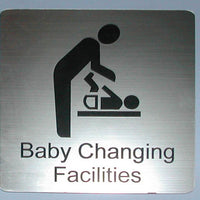 Engraved Baby Changing Room sign