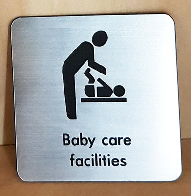 Engraved baby care facilties sign