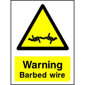 Barbed wire sign