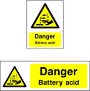 Danger Battery Acid safety sign