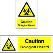 Caution Biological Hazard safety sign