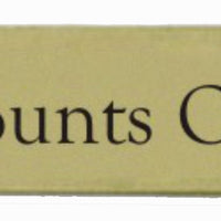 Brass Accounts Office Sign