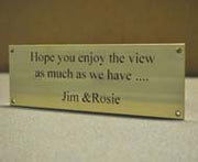 Engraved Brass bench plaque