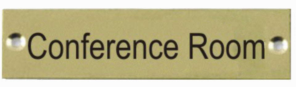 Engraved Brass Conference Room Door Sign