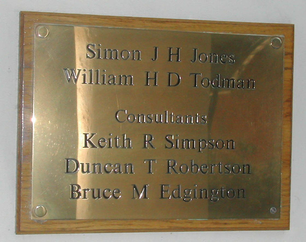 A3 Engraved Brass Plaque
