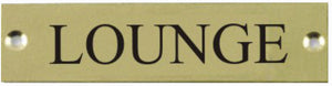 Engraved Brass Lounge Door Sign
