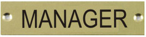 Engraved Brass Manager Door Sign