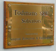 Brass Plaque 150mm x 100mm