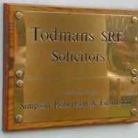 Engraved Brass Plaque A4 size