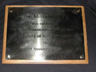 Brass Plaque 250mm x 200mm