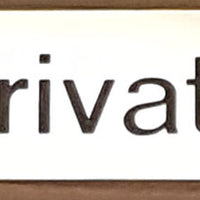 Engraved Brass Private Door Sign