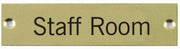 Engraved Brass Staff Room Door Sign