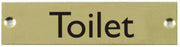 Engraved Brass Toilet Door Sign